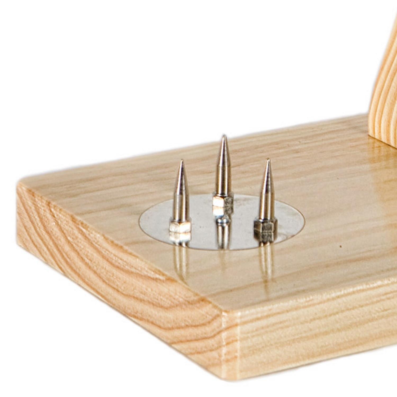 Buarfe Folding Rotating Ham Holder Jabugo Beech//Wenge Colour