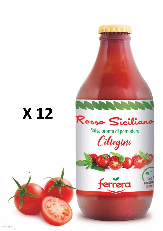 Tomato Sauce Of 100 Sicilian Cherry Tomatoes Set 12 X 330 Gr Ferrera H H Shop