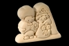 Engaged Couple 3D-Puzzle in natural wood - Dolfi